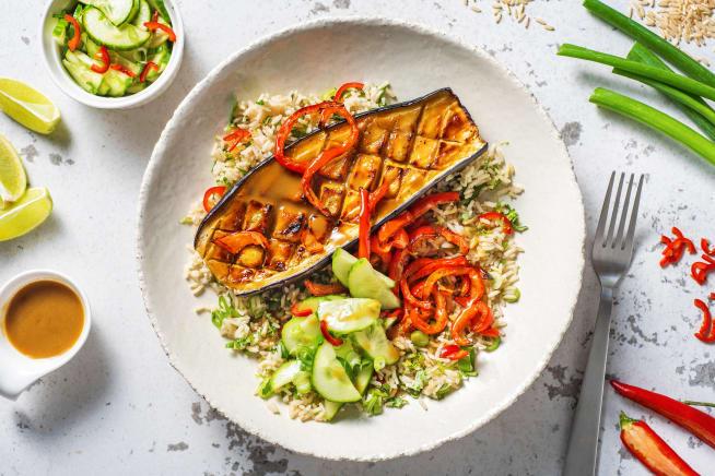 Low Calorie Meals - Miso Baked Aubergine