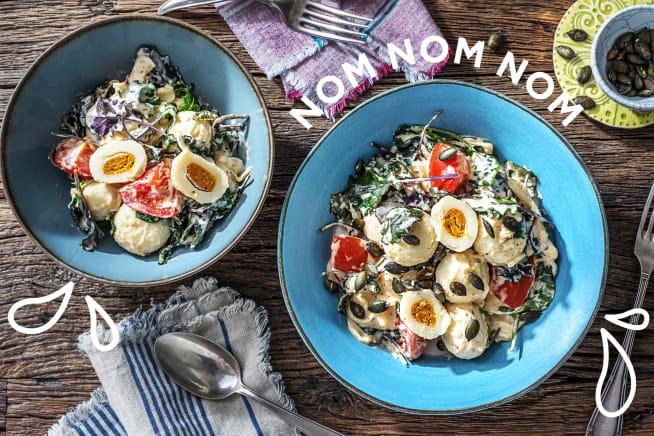 Gesunde Gerichte - Mit Kürbis gefüllte Gnocchi