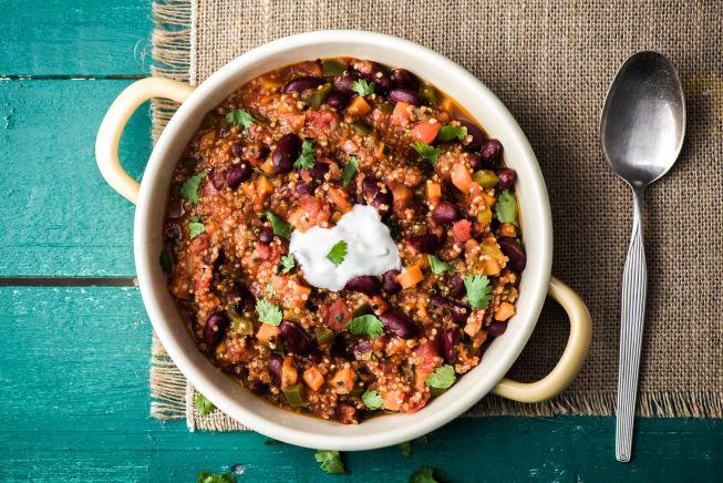 One-Pot Vegetarian Chilli with Quinoa