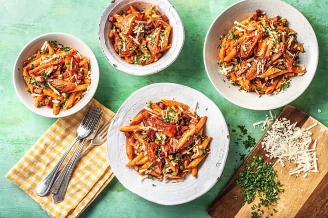 Pancetta and Chorizo Penne