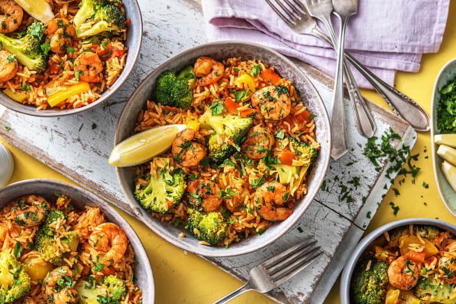 Low Calorie Meals - Peri Peri Prawns