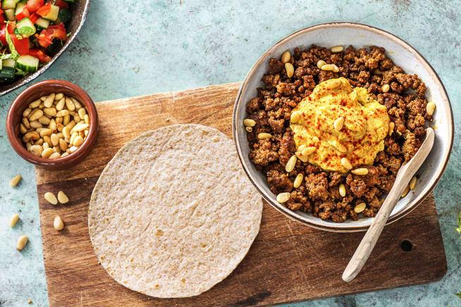 Recettes rapides - Tortillas au bœuf haché à l'orientale