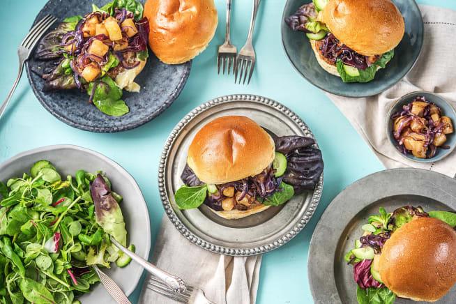 Family Friendly - Pork Luau Burgers