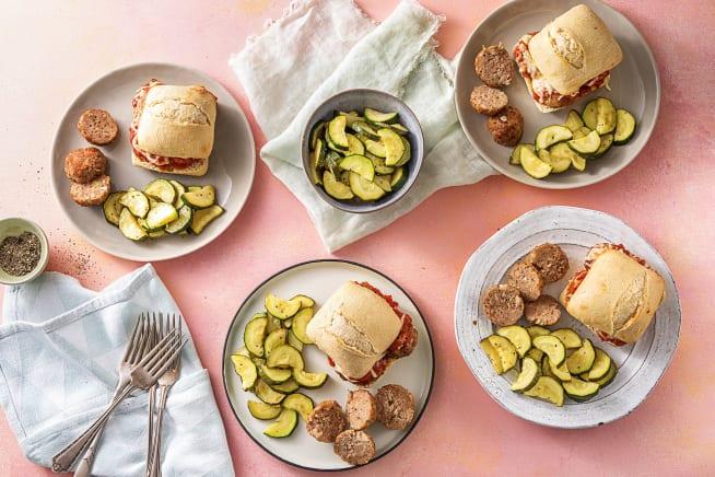 Pork Meatball Melt Sandwiches