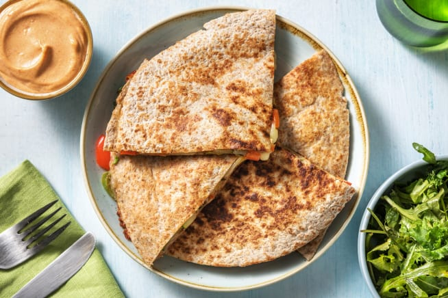 Snelle recepten - Quesadilla met groenten en cheddar