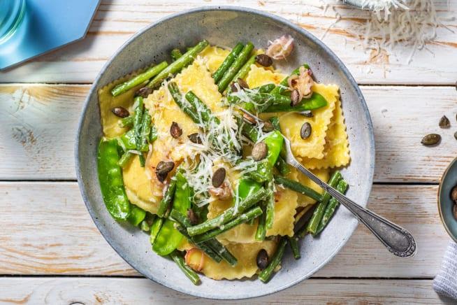 Snelle gerechten - Ravioli gevuld met bloemkool en beurre noisette