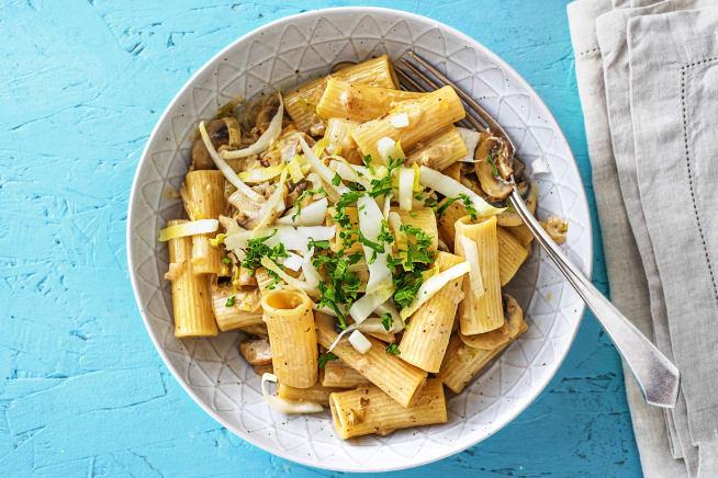Quick & easy - Rigatoni in paddenstoelenroomsaus