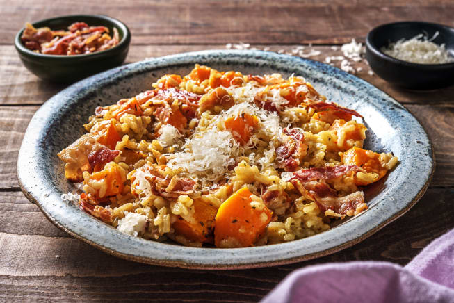 Bacon, Chili Flakes and Butternut Squash Risotto