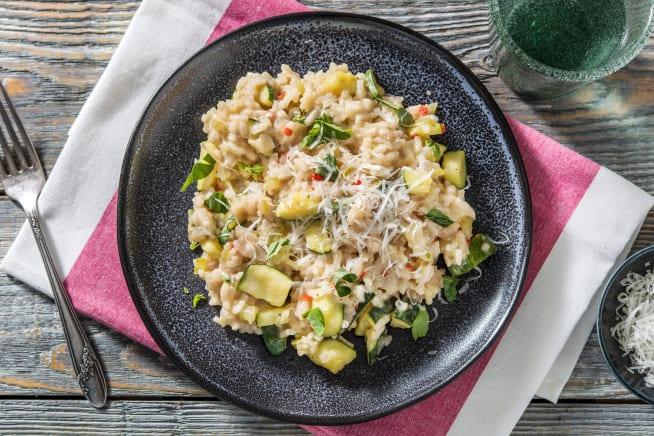 Glutenvrije recepten - Risotto met courgette en buffelmozzarella
