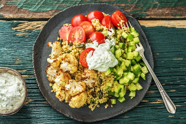 Roasted Cauliflower and Bulgur Pilaf