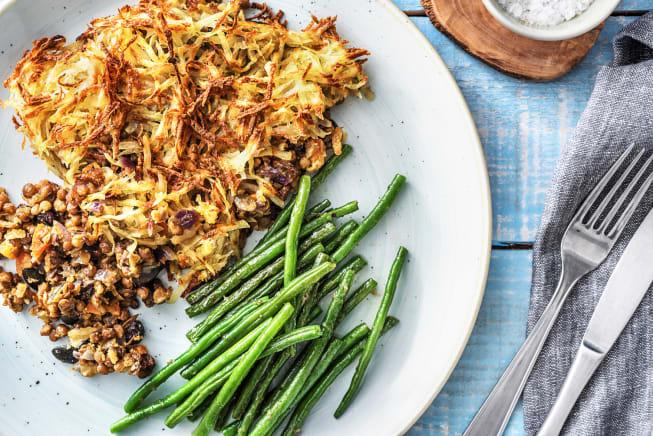 Vegetarian Recipes - Rosti-Topped Lentil Pie