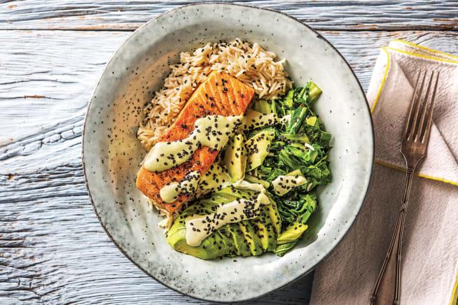 Seared Salmon 'Sushi' Bowl