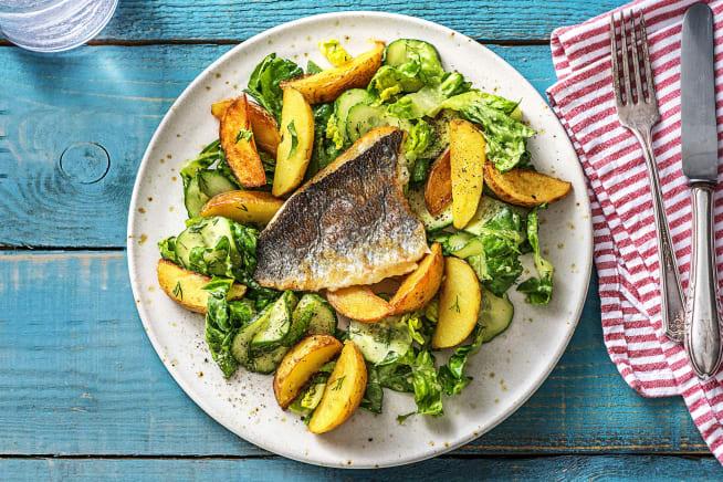 Glutenvrije recepten - Scandinavische salade met doradefilet