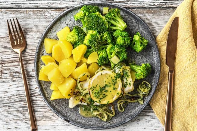 Glutenvrije recepten - Schelvisfilet met zachte ui en botersaus
