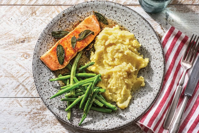 Quick Meals - Seared Salmon & Sage Butter