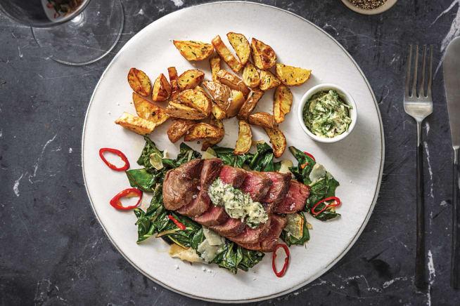 Seared Sirloin & Truffled Potatoes