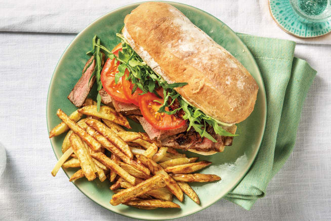 Quick Meals - Seared Steak & Caramelised Onion Ciabatta