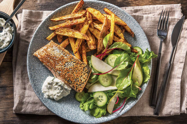 Quick Meals - Sesame-Crusted Salmon