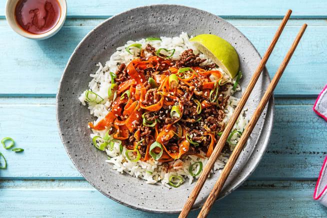 Sesame Sriracha Beef Stir-Fry