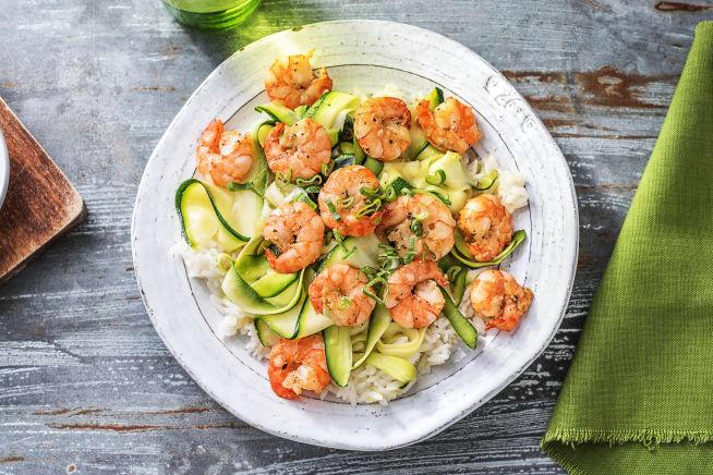 Shrimp and Zucchini Ribbons