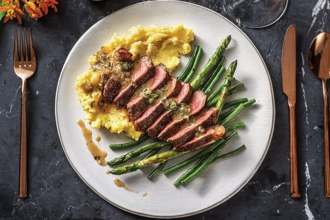 Sirloin Steak & Tarragon Sauce