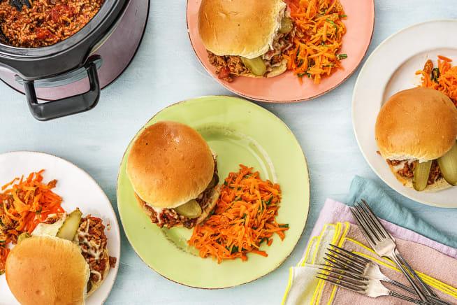 Family Friendly - Slow-Cooker Chipotle Pork Sloppy Joes