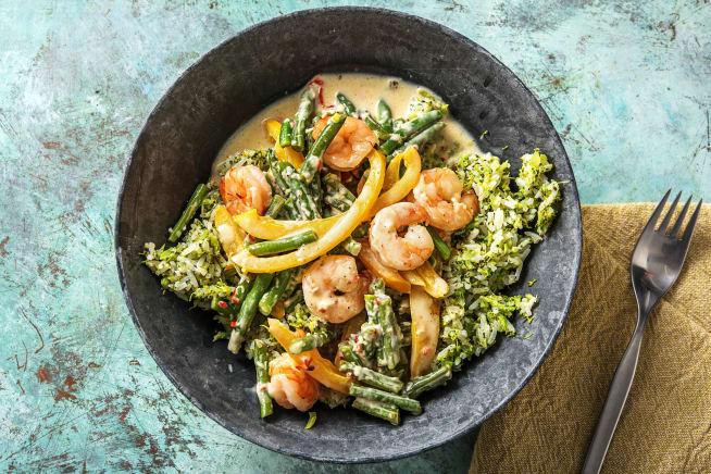 Quick & easy - Snelle curry met garnalen
