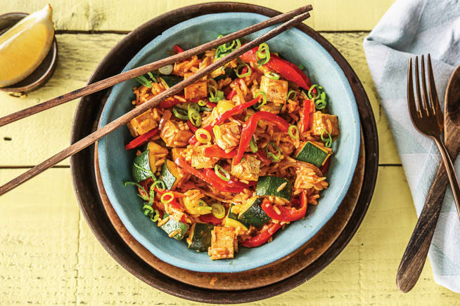 Spanish-style Tofu & Smokey Veggie Rice Bowl