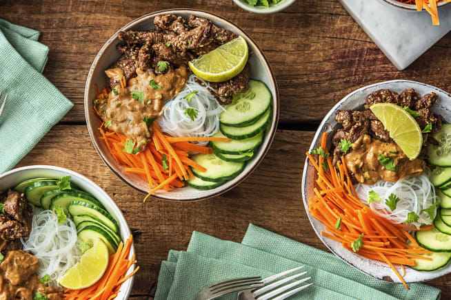 Beef Rice Noodle Bowls