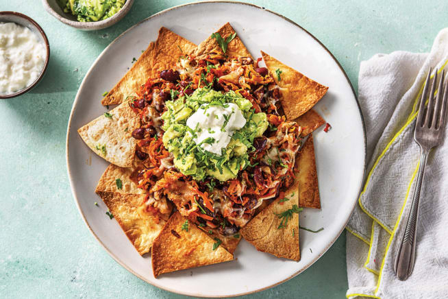 Speedy Mexican Bean Nachos