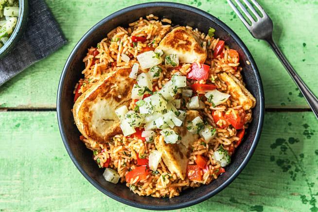 Vegetarian Recipes - Spiced Halloumi
