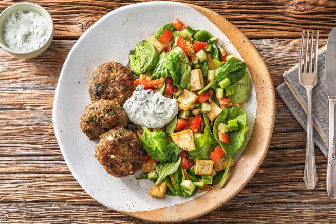 Speedy Beef, Spinach & Fetta Rissoles
