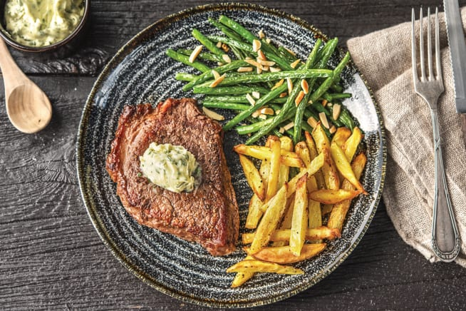 Seared Steak and Homemade Chips