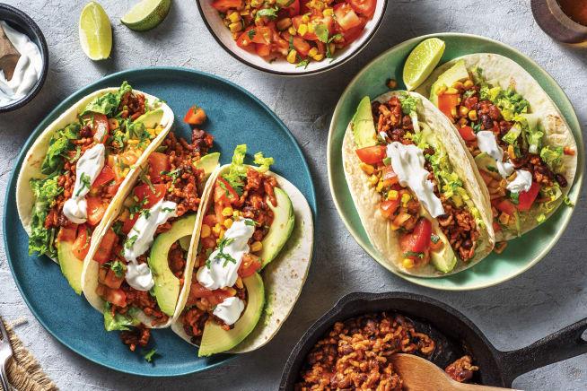 Quick Meals - Tex-Mex Pork & Bean Tacos