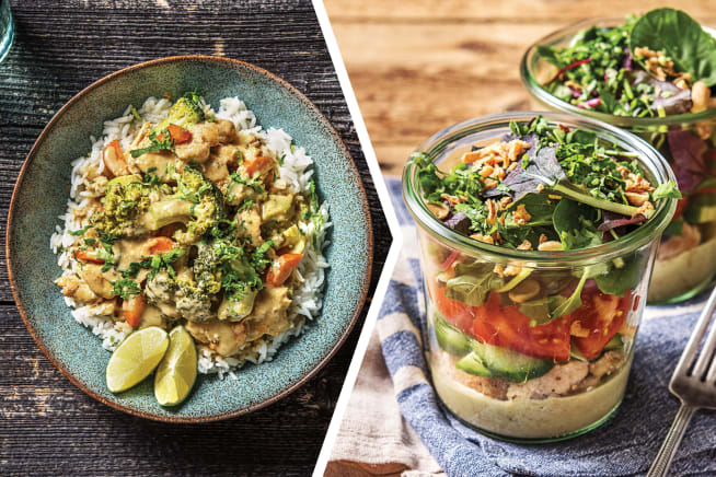 Thai Green Curry with Chicken for Dinner