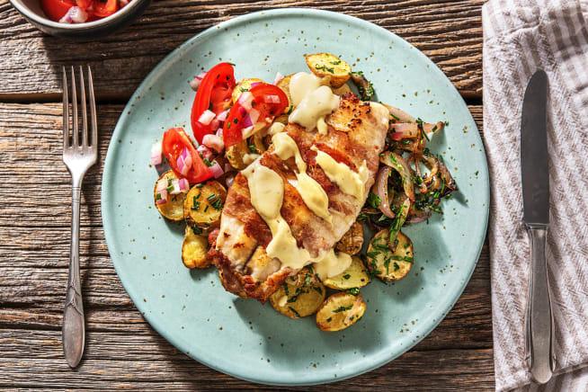 Schnelle Gerichte - Tilapia-Fischfilet im Baconmantel