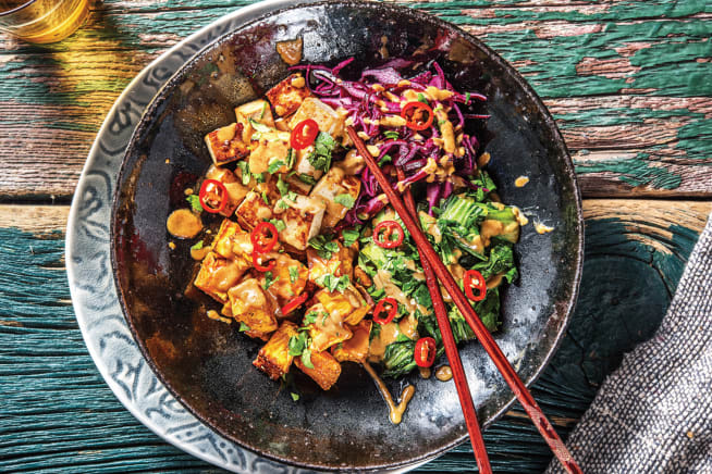 Speedy Tofu & Sweet Potato Buddha Bowl