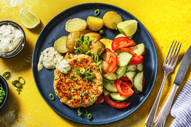 Snelle gerechten - Tonijnburger met ravigotesaus