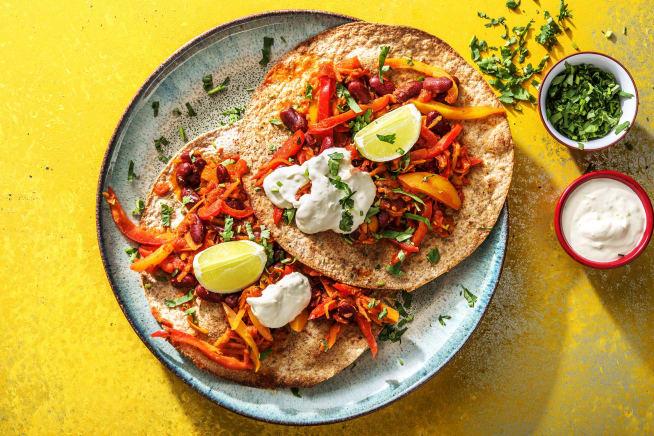 Low Calorie Meals - Tostadas Rapidas Vegetarianas
