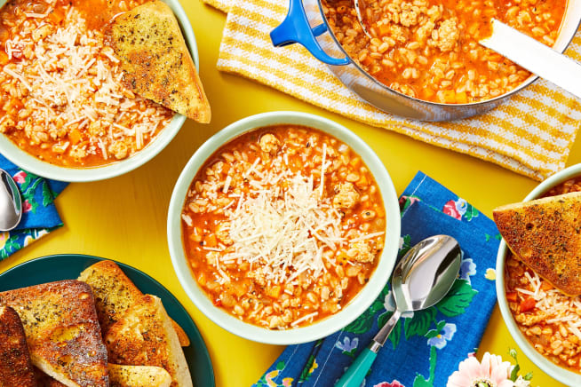Family Friendly - Tuscan Sausage and Farro Soup