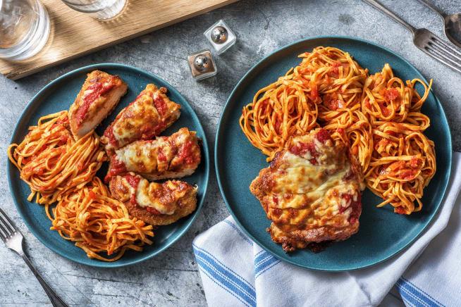 Überbackene Hähnchenbrust Parmigiana
