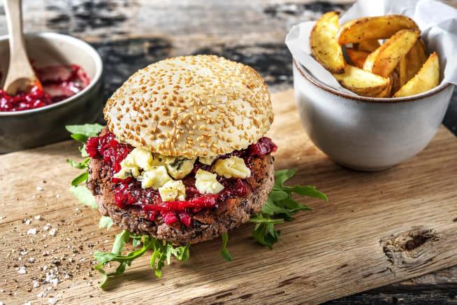 Schnelle Gerichte - Veggie Burger mit Bohnenpatty