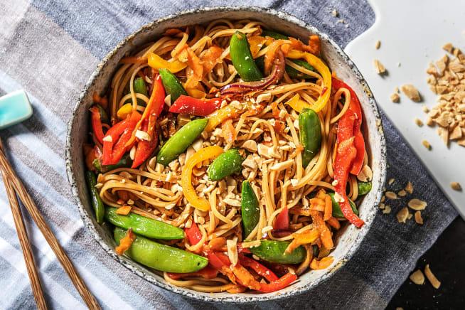 Quick Meals - Veggie Noodle Stir-Fry (v)