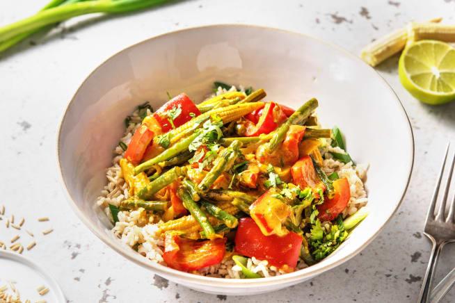 Veggie Packed Yellow Thai Curry (v)