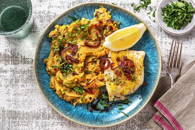 Glutenvrije recepten - Victoriabaars met bataatpuree