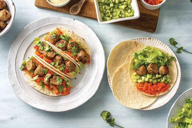 Vietnamese Pork Meatball Tacos