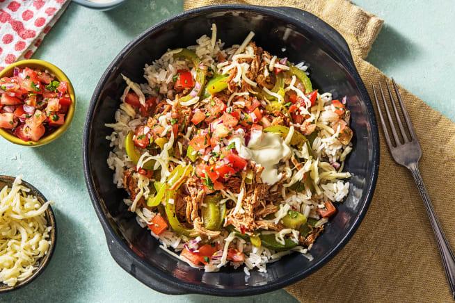 Quick meals - Pulled Pork Fiesta Bowls
