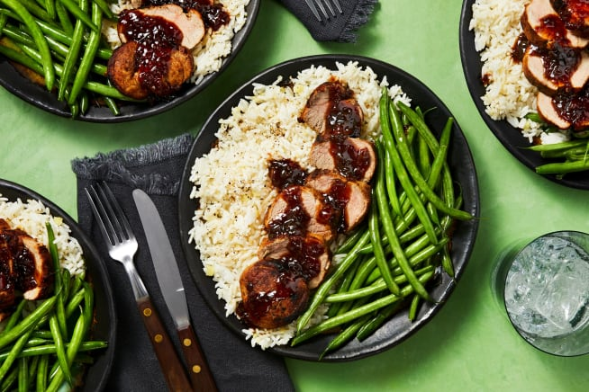 Hall Of Fame - Apricot Balsamic-Glazed Pork Tenderloin