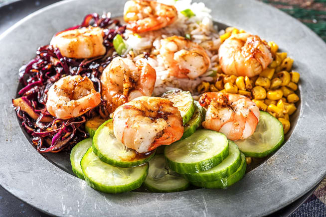 Warm Shrimp Poke Bowl