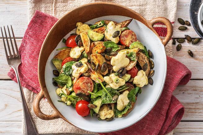 Vegetarische Gerichte - Warmer Kartoffelsalat mit Babyspinat